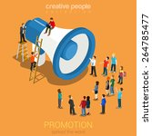 social media promotion online... | Shutterstock .eps vector #264785477