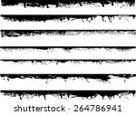 grunge edges vector set .... | Shutterstock .eps vector #264786941
