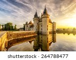 chateau of sully sur loire at... | Shutterstock . vector #264788477