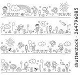 black and white pattern for... | Shutterstock .eps vector #264796085