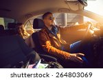 fashionable male driven in the... | Shutterstock . vector #264803069