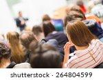speaker giving a talk at... | Shutterstock . vector #264804599