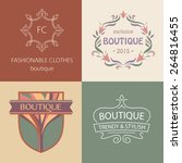 set of vector logos for...   Shutterstock .eps vector #264816455