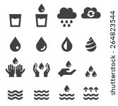 water icon set | Shutterstock .eps vector #264823544