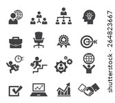 business icon set | Shutterstock .eps vector #264823667