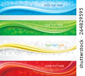 web header banners abstract... | Shutterstock .eps vector #264829595