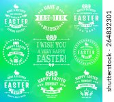 happy easter  set of white... | Shutterstock .eps vector #264832301