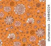 flower concept vintage seamless ...   Shutterstock .eps vector #264840224