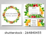 wedding invitation cards with... | Shutterstock .eps vector #264840455