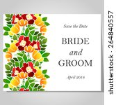 wedding invitation cards with... | Shutterstock .eps vector #264840557