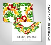 wedding invitation cards with... | Shutterstock .eps vector #264840959