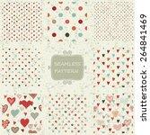 set of 8 retro abstract... | Shutterstock .eps vector #264841469