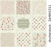 set of 8  seamless pattern with ... | Shutterstock .eps vector #264841511
