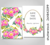 wedding invitation cards with... | Shutterstock .eps vector #264842099