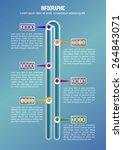 timeline infographic. vector... | Shutterstock .eps vector #264843071