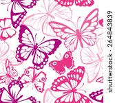 seamless pattern with butterfly....   Shutterstock .eps vector #264843839