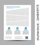 corporate business flyer...   Shutterstock .eps vector #264845975