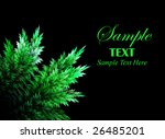 abstract green leaves over... | Shutterstock . vector #26485201