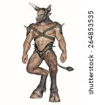 3d Rendered Fantasy Minotaur...