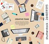 modern flat design creative... | Shutterstock .eps vector #264859595
