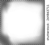 grunge halftone dots vector... | Shutterstock .eps vector #264863711