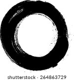 vector circle shape . stamps .... | Shutterstock .eps vector #264863729