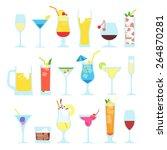 set illustration of summer... | Shutterstock .eps vector #264870281