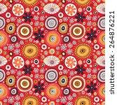 seamless floral pattern | Shutterstock .eps vector #264876221