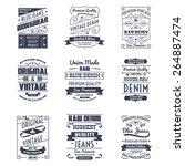classical denim jeans... | Shutterstock .eps vector #264887474