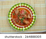 mexican grillades and grits... | Shutterstock . vector #264888305