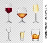 alcohol drinks in 3d realistic... | Shutterstock .eps vector #264891671