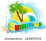 "the word ""summer"" on the... 