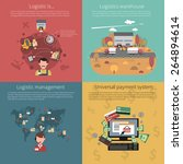 design concept set for logistic ... | Shutterstock .eps vector #264894614