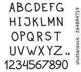 alphabet. hand drawn letters... | Shutterstock .eps vector #264894719