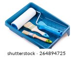 paint roller brush tray... | Shutterstock . vector #264894725