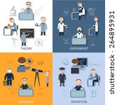 science design concept set with ... | Shutterstock .eps vector #264895931