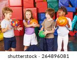 children playing with different ...   Shutterstock . vector #264896081