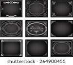 set of old silent movie title... | Shutterstock .eps vector #264900455