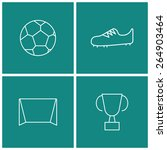 soccer thin line icon set | Shutterstock .eps vector #264903464