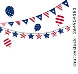 Illustration Bunting Pennants...