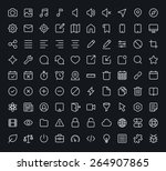outline vector icons for web... | Shutterstock .eps vector #264907865