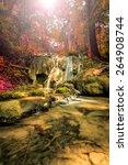 wonderful waterfall in thailand ... | Shutterstock . vector #264908744