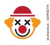 clown jester icon    Shutterstock .eps vector #264908774