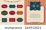 vintage hipster circus labels...   Shutterstock .eps vector #264913421