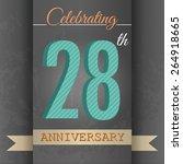 28th anniversary poster  ...   Shutterstock .eps vector #264918665