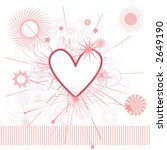 heart background with ornate...   Shutterstock .eps vector #2649190