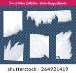 vector isolated white torn... | Shutterstock .eps vector #264921419