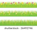 grass and flowers | Shutterstock .eps vector #26492746
