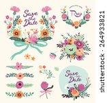 vintage floral elements | Shutterstock .eps vector #264933821