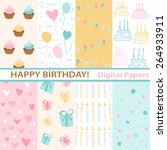 set of birthday | Shutterstock .eps vector #264933911